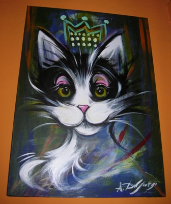 Queen - Acrilico su tela, f,to 50x70