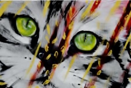 Gatto d'oro - Acrilico su tela,40x70