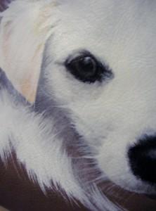 Ritratto di Trilli - particolare del dipinto