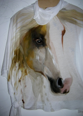 Anna Maria Di Giorgi - Dipinto a mano su maglia in viscosa