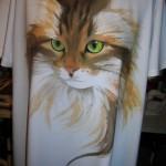 Ritratto di Jerry Lee - dipinto a mano su maglia svasata