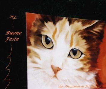 gatto - olio su cartone telato,50x60